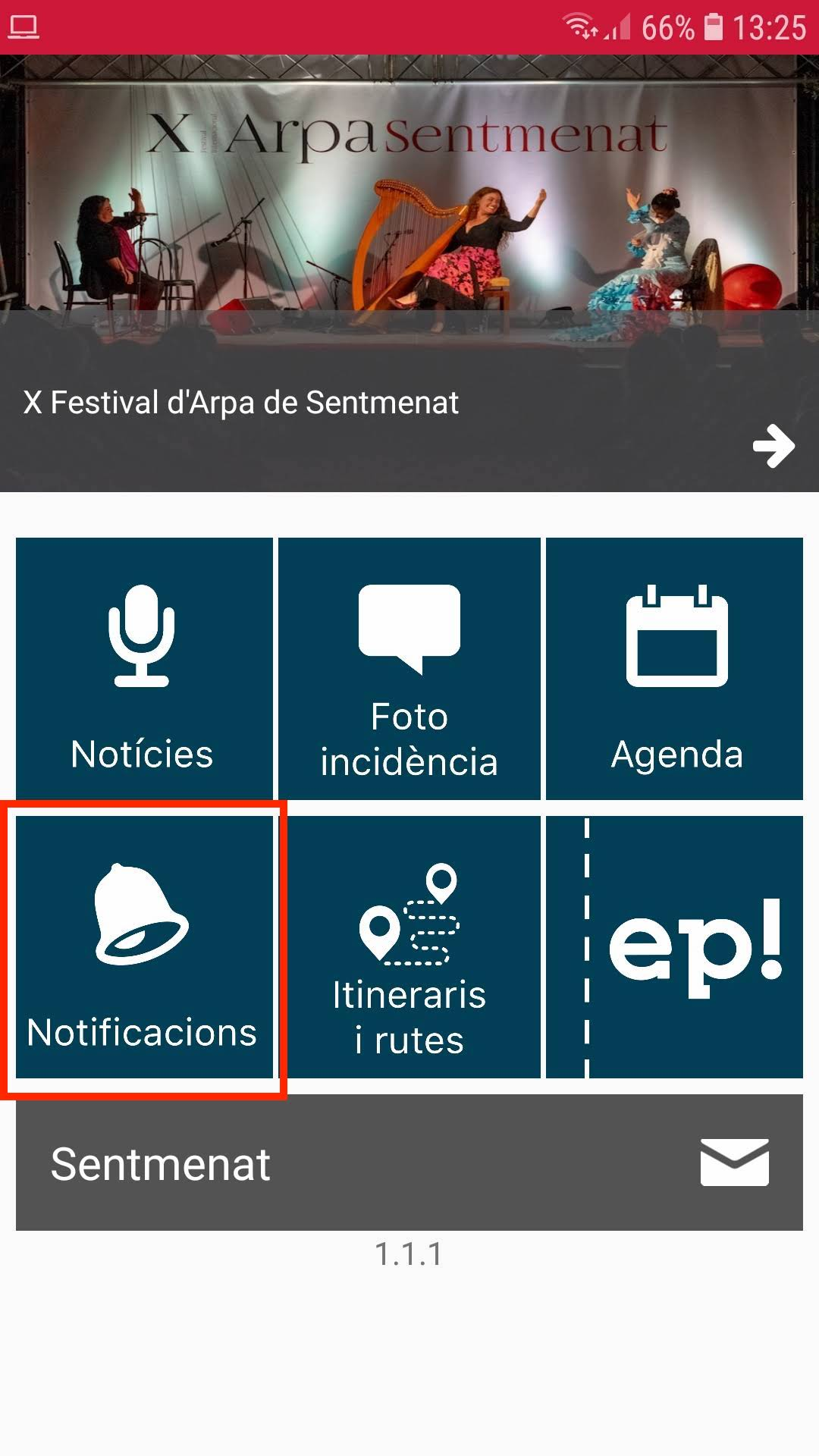notificacions/avisos appvisador city