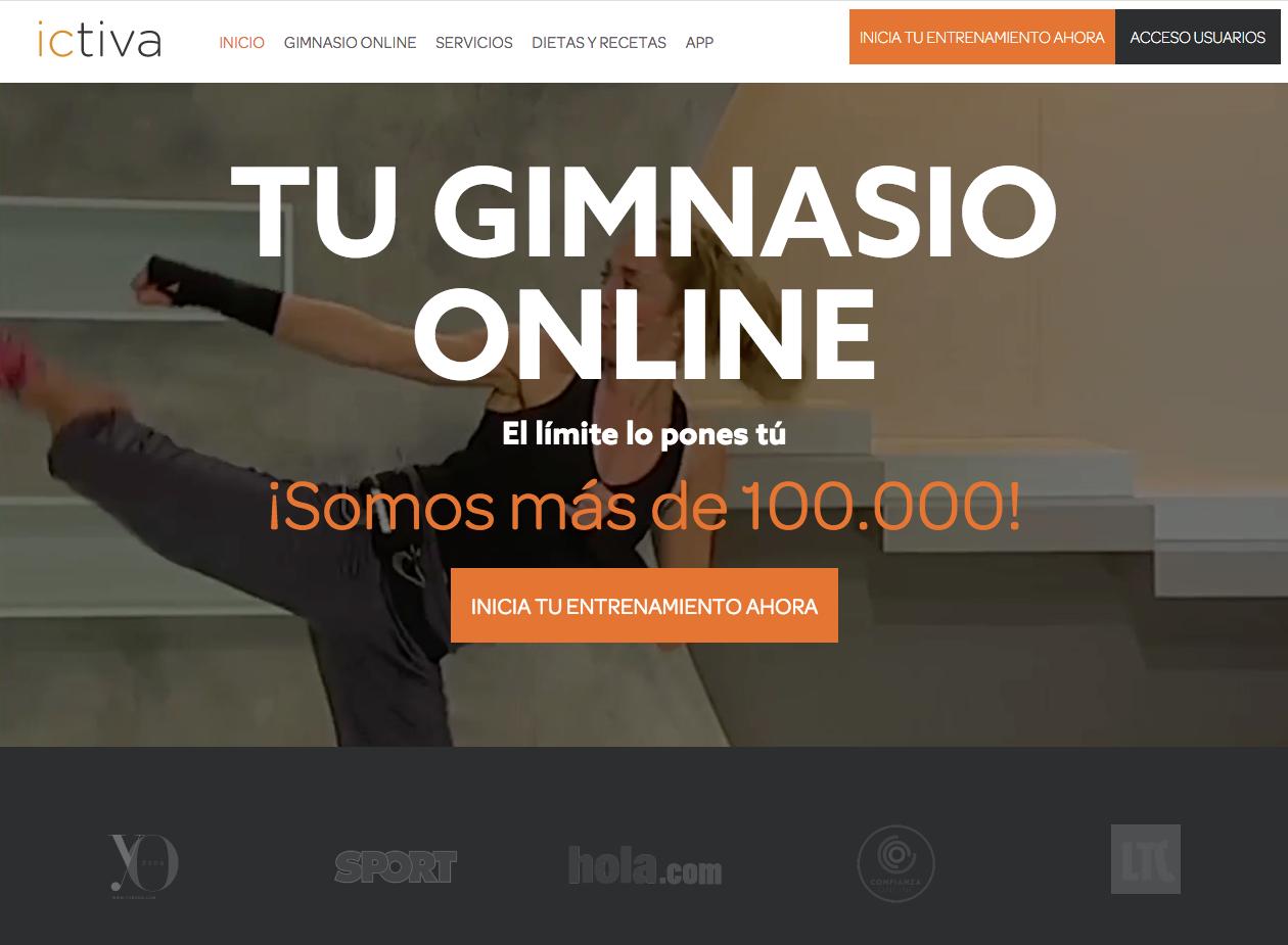 Ictiva tu gimnasio online perception disseny web for Tu gimnasio